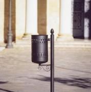 Poubelle décorée - Capacité (L) : 35 - Dimensions corbeille (Diamètre x H) cm : 31 x 52