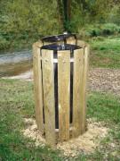 Poubelle en bois 100 Litres - Pieds et traverses section 22 x 90 mm - Contenance 100 litres