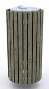 Poubelle en bois ronde - En pin traité - Capacité (L) : 120