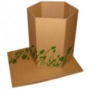 Poubelle en carton - Monté : 35.00 x 26.00 x 30.00 cm