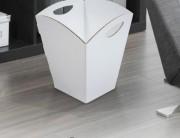 Poubelle en carton ondulé - Dimensions : 293 x 293 x 378 mm
