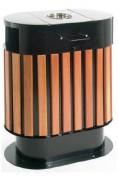 Poubelle extérieure en bois - Capacité : 100 litres - Dimensions (L x l x H) cm : 68.5 x 40 x  90