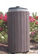 Poubelle jardin public - Diamètre : 52 cm - Capacité : 130 Litres