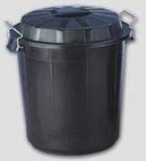 Poubelle noire 50 litres - Diamètre : 455 mm