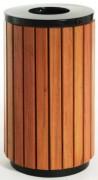 Poubelle pour collectivités en bois - Capacité (L) : 70 - Dimensions (H x diamètre) cm :  75.5 x 40