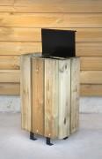 Poubelle rectangulaire en bois - Capacité (L) : 30