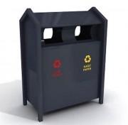 Poubelle recyclage publique - Volumes : 2x55 ou 2x60 L