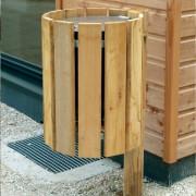 Poubelle ronde en bois 50 litres