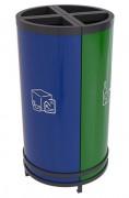 Poubelle ronde tri sélectif - Gestion facile de déchets