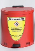 Poubelle sécurité anti feu - Capacité : 65 litres – Dimensions extérieur : (L x P x H) : 490 x 535 x 580 mm