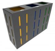 Poubelle tri design - À 4 bacs personnalisables