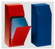 Poubelle tri sélectif acier - Capacité : 68 L - Finition : 5 coloris