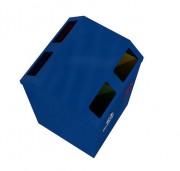 Poubelle tri sélectif double face - 35 litres - 4 compartiments (4 x 35 L)