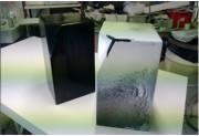 Pouf bicolore polyester - Bi couleur fondu