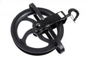 Poulie de levage en acier laqué  - 1 réa en acier diamètre 250 mm
