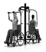 Poussée tirée de musculation pmr - Difficulté : Effort 3 - En Acier galvanisé