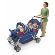 Poussette pour 4 ou 6 enfants - Système de freinage à main et au pied