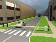 Poutre d'accès coulissante - Poutre manuelle de forte section bien visible - Tout véhicule
