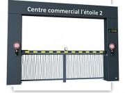 Poutre levante motorisée avec portail - Protection de parking, zone industrielle ou commerciale