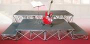 Praticable de scène en aluminium - Podium démontable et assemblable - elements de 0.52 à 2 m