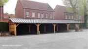 Préau pour école à charpente bois - Conforme aux Eurocodes 1/3/5 et 8