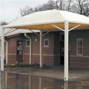 Préau pour voiture - Toile en PVC ignifugé (650 g/m²)