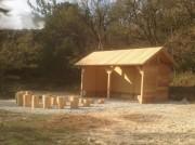 Préau théâtre en bois - Sur mesure