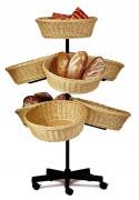 Présentoir à 7 corbeilles boulangerie - Hauteur : 130 cm