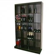 Présentoir à bouteille vin - Capacité : 300 bouteilles couchées ou 180 bouteilles debout