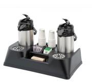 Présentoir à café pour thermos - Équipé de deux égouttoirs amovibles