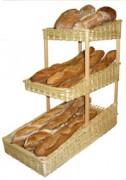 Présentoir à pain 3 niveaux - Dimensions (cm) : 30 x 60 x 60