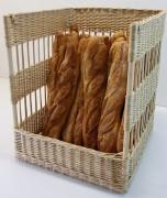 Présentoir à pain debout - Différentes dimensions  -  Matière : osier