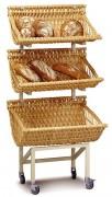 Présentoir à pain mobile - Dimensions (L x P x H) cm : 75 x 70 x 165
