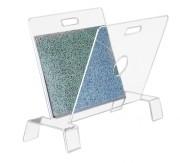 Présentoir à posters plexi - Dimensions (L x l x H) : 74 x 40 x 52 cm