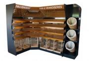 Présentoir boulangerie en acier - Structure en acier et étagères en bois