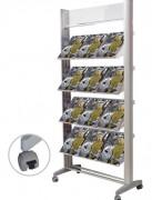 Présentoir brochure aluminium