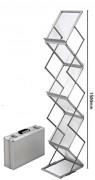 Présentoir brochure zig zag portable - Modèle : Sur pieds - Format : A4