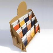 Présentoir comptoir en carton - Dimensions monté : h 50 x 50 x p 20 cm / 300 gr