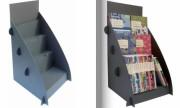 Présentoir comptoir plv carton - Dimensions monté : h 50 x 29 x p29 cm / 550 gr