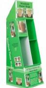 Présentoir contenant publicitaire - Dimensions du présentoir (L x l x H) : 380 x 396 x 1204 mm