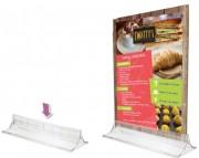Présentoir d'accueil porte visuel - Modèle : Sur table - Format : A5 - Matière : Polystyrène injecté
