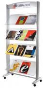 Présentoir d'exposition pour brochures - Structure aluminium