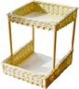 Présentoir en osier 2 niveaux - Dimensions (L x P x H) cm : 35 x 38 x 40