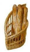 Présentoir en osier pour boulangerie - Dimensions (cm) : 45 x 24 x 15 x 50