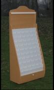 Présentoir en PVC blanc - PRESTIGE Décor bois hêtre 40x100x145