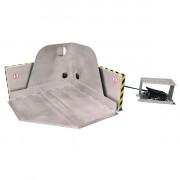 Présentoir Inclineur en coin INDIAPIK 30° INOX - Vidange des conteneurs IBC / GRV