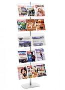 Présentoir magazines simple face - 5 tablettes