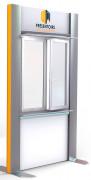 Présentoir métallique gamme XXL - Moderne et facile à installer