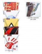 Présentoir mural A4 en polyamide - Modèle : Mural - Format : A4 - Matière : Polyamide