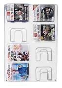 Présentoir mural magazine 8 cases